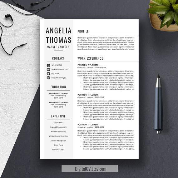 Minimalist student resume